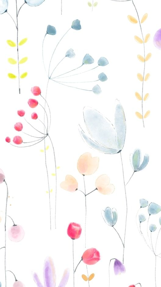 wallpaper background of floral watercolors