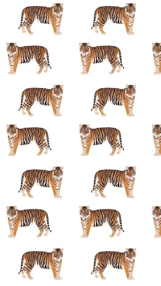 wallpaper background of tigers and palm leaves