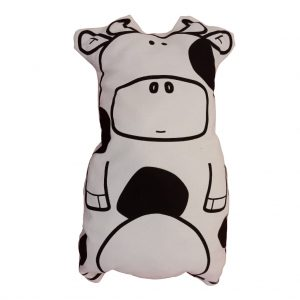 funny little cow cushion front